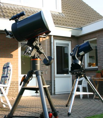 C11 on CGE-mount next to my old LX10, venus transit 2004